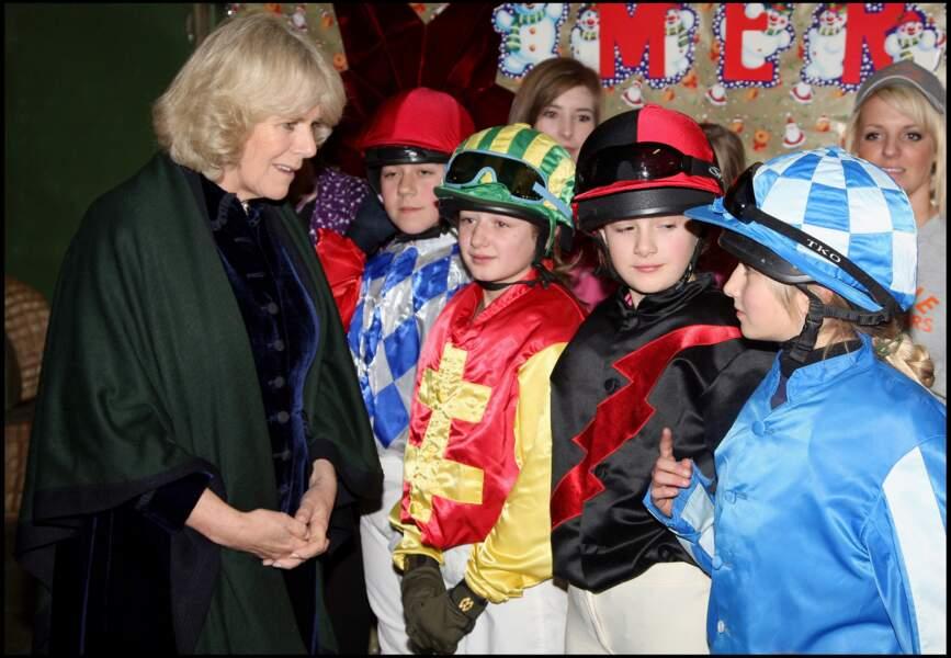 """17 décembre 2008 : Lors d'une compétition, la duchesse venait parler et soutenir les jeunes Jockeys. Une """"princesse"""" proche du peuple."""
