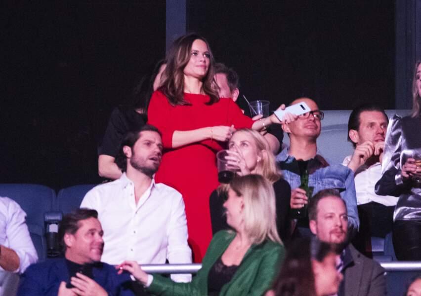 """La princesse Sofia de Suède assiste au concert """"Avicii Tribute Concert for Mental Health Awareness"""" à la Friends Arena de Stockholm, le 5 décembre 2019."""