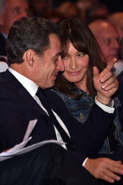 Octobre 2016, Carla Bruni aux côtés de son mari pour la présidentielle de 2017.