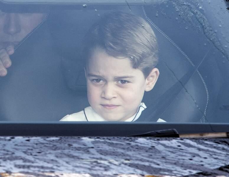 Le prince George profite des vacances de Noël à Londres, le 18 décembre 2019