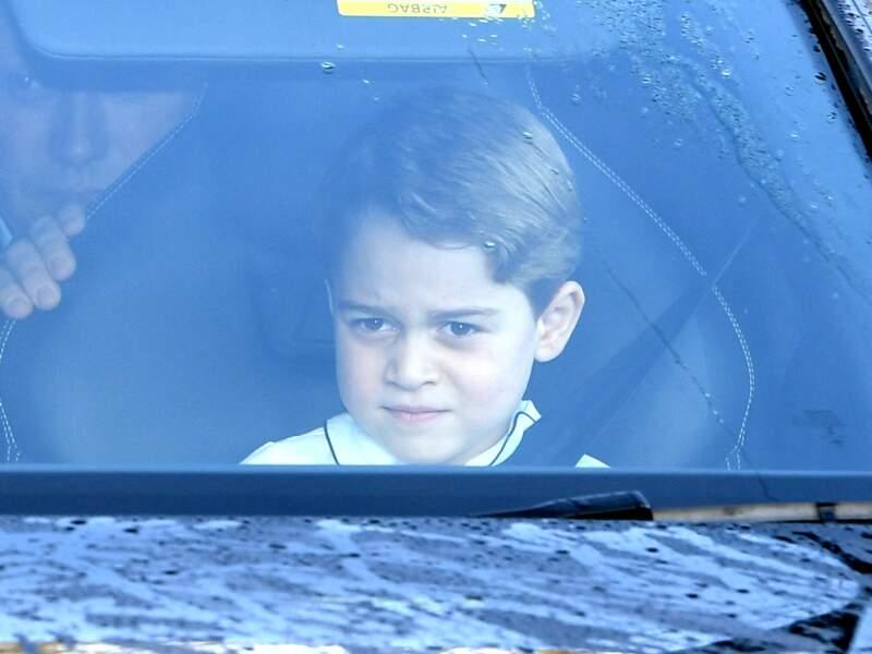 Le prince George se rend au déjeuner de Noël de la reine Elizabeth II, le 18 décembre 2019 à Londres
