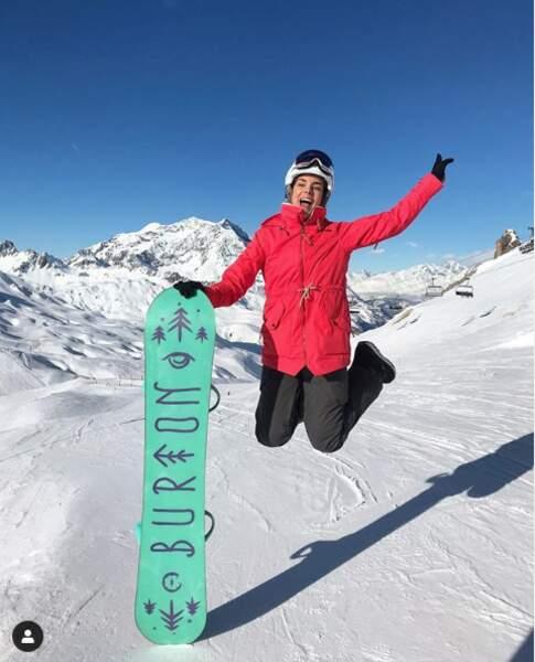 Pour l'ancienne Miss Marine Lorphelin, Noël 2018, c'était au ski. Elle a passé ses fêtes de Noël à faire du snowboard et sûrement à partager de belles raclettes entre amis !