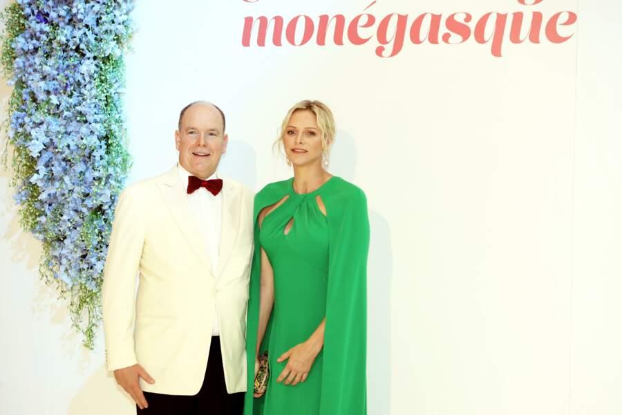 Le prince Albert II et la princesse Charlène de Monaco, au 71e gala de la Croix-Rouge Monégasque, à Monaco, le 26 juillet 2019.