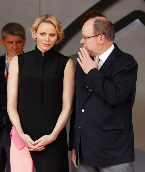 La princesse Charlene et le prince Albert II de Monaco, au Grand Prix de Formule 1 de Monaco, le 26 mai 2019.