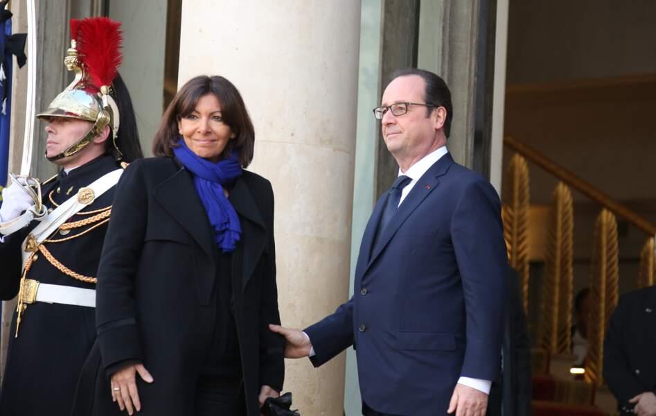Anne Hidalgo et François Hollande
