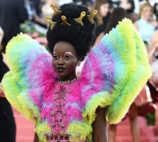 L'actrise et réalisatrice Lupita Nyong'o et ses paillettes en folie