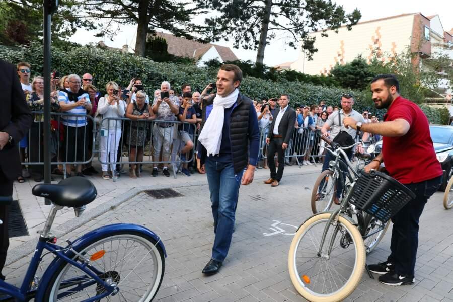 Emmanuel Macron et son garde du corps