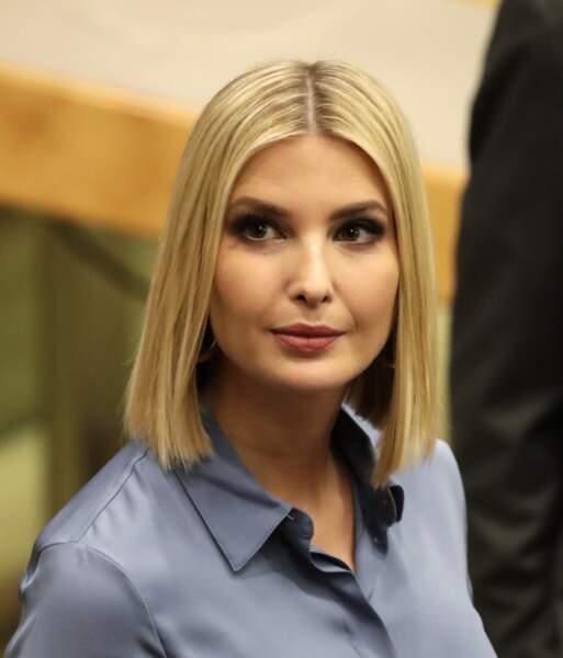 Le carré blond et lisse, parfait pour toutes les formes de visage comme celui d'Ivanka Trump.