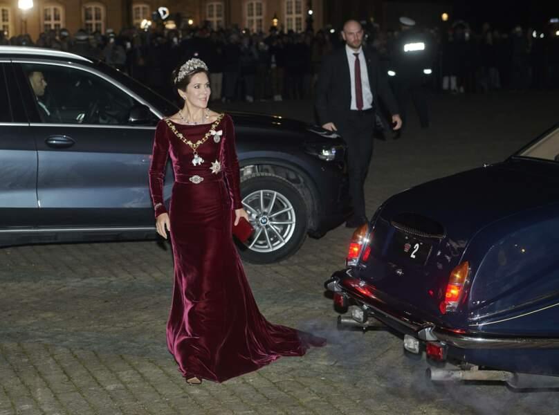 La princesse Mary de Danemark - Réception du Nouvel An de la famille royale danoise au palais d'Amalienborg à Copenhague, Danemark, le 1er janvier 2020.