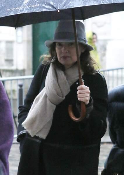 15 janvier 2015 : Valérie Trierweiler est aux Obsèques de Georges Wolinski.