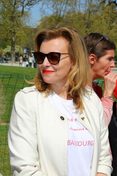 14 avril 2015 : Encore une nouvelle coupe pour Valérie Trierweiler.