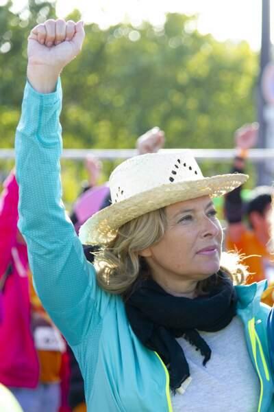 8 septembre 2019 : Valérie Trierweiler au départ d'une course.