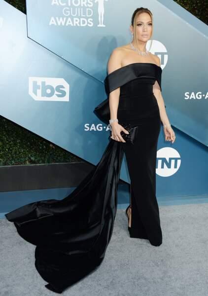 Jennifer Lopez a choisi une robe bustier georges Hobeika