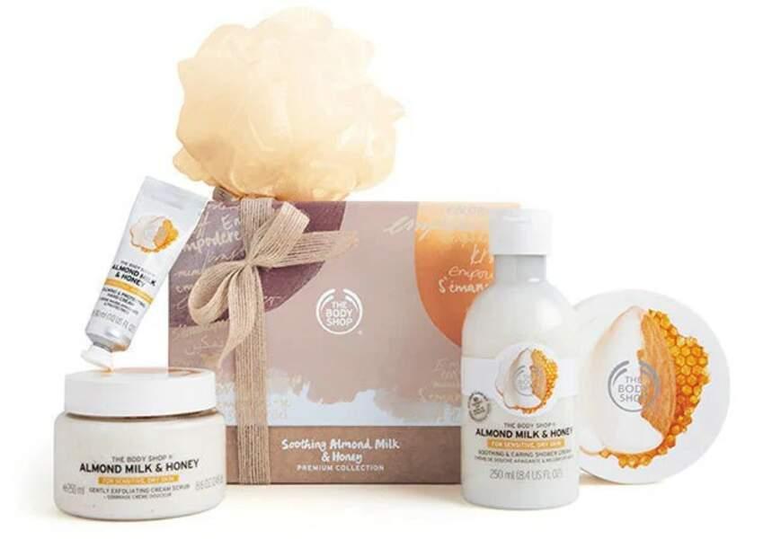 Coffret Selection Somptueuse Almond Milk & Honey, The Body Shop, 42€