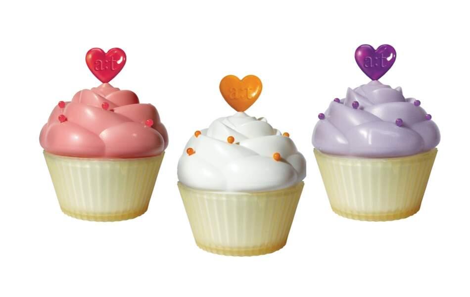 Crème cupcakes raffermissante, hydratante ou apaisante, A ;T Fox 24€ l'une