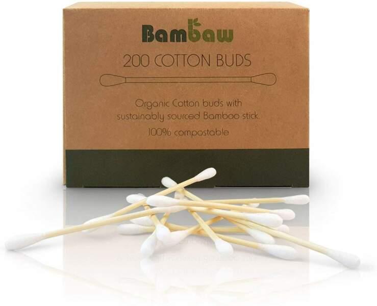 Cotons tiges en bambou, Bambaw, 3,49€