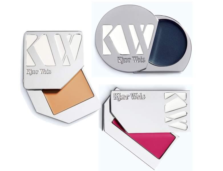 Fond de teint, gloss et ombre crème,  Kjaer Weis, 61€, 42€ et 43€