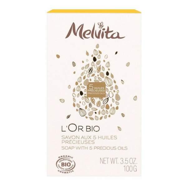 Savon l'Or Bio, Melvita, 4,50€