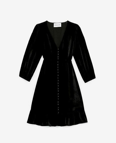 Robe en velours, 278€, The Kooples