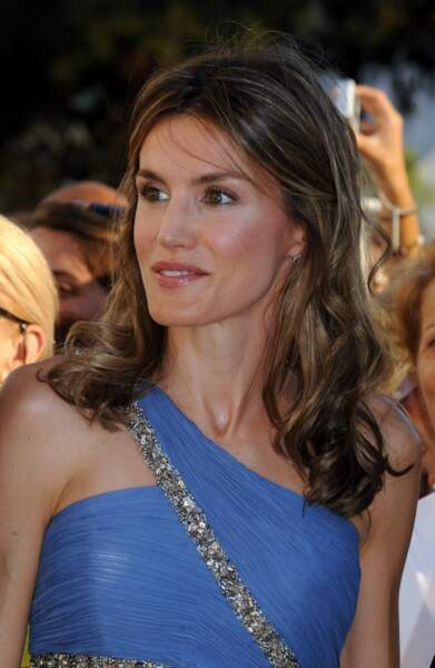 2010 : La princesse Letizia, plus svelte que jamais au mariage du prince Nikolaos de Grèce et de Tatiana Blatnik.