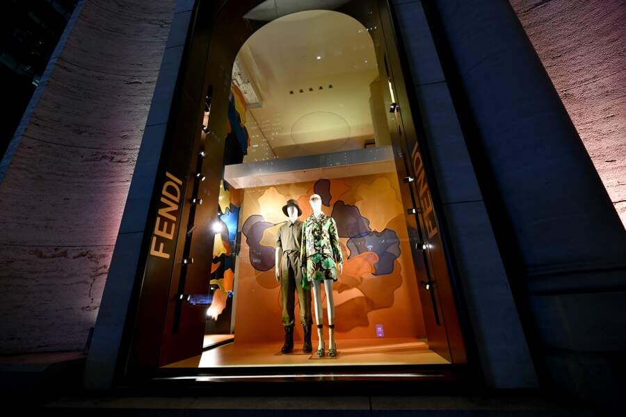 La boutique Fendi située sur Madison Avenue, à New-York.
