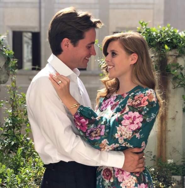 Photo de fiançailles de Beatrice d'York et d'Edoardo Mapelli Mazzi publiée le 26 septembre 2019