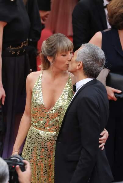 Mélanie Page et son mari Nagui, lors du 72ème Festival International du Film de Cannes, le 18 mai 2019