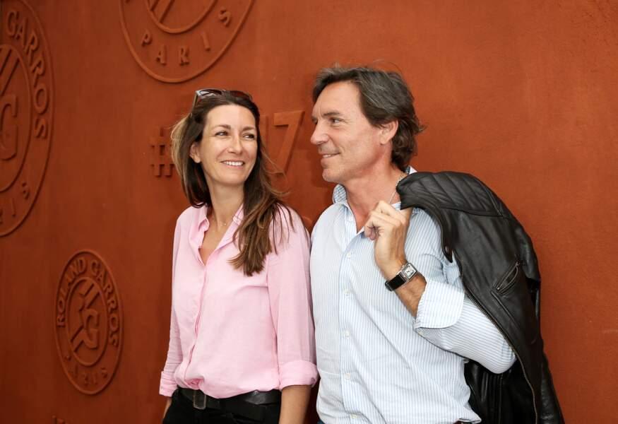 Anne-Claire Coudray et son compagnon Nicolas Vix au village des Internationaux de Tennis de Roland Garros à Paris le 8 juin 2017