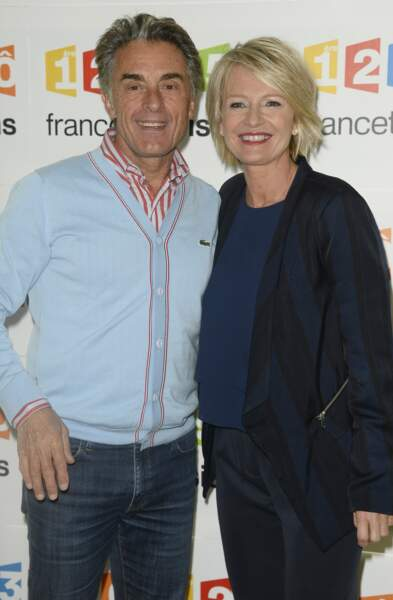 Novembre 2014 : Sophie Davant et Gérard Holtz peu avant une conférence de presse pour France TV