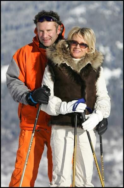 Décembre 2008 : Sophie Davant et Pierre Sled à Courchevel sur les pistes de ski