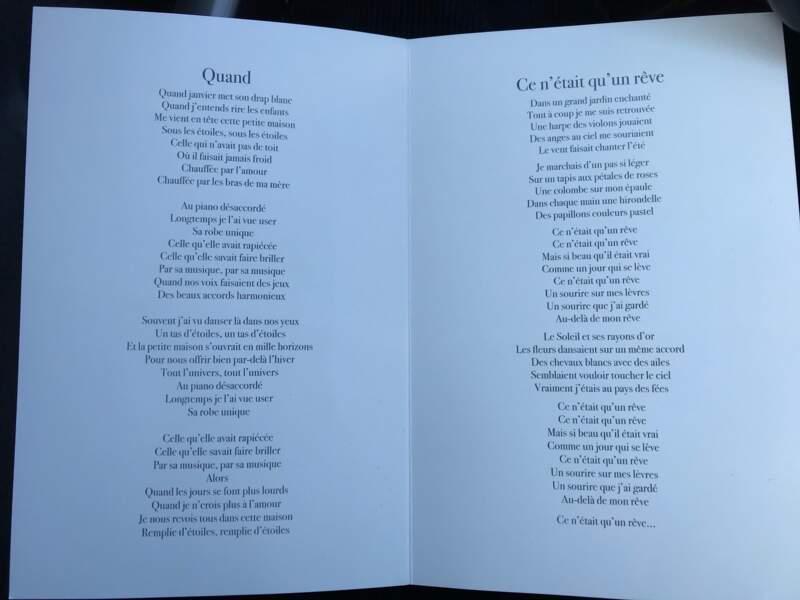 des extraits des chansons et hommages qui vont être entendues lors des obsèques de Thérèse Tanguay-Dion, la mère de Céline Dion.