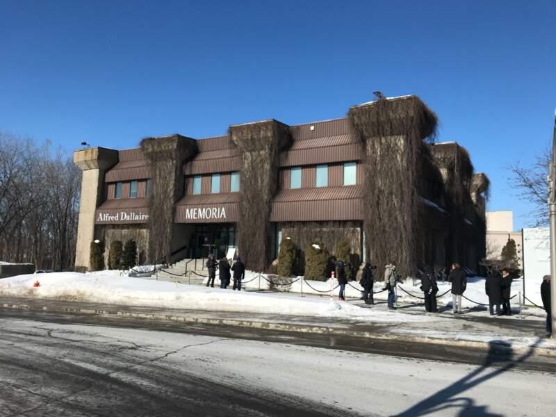 Le salon funéraire Alfred Dallaire de Laval à Montreal, où se déroulent les obsèques de Thérèse Tanguay-Dion, la mère de Céline Dion, dans la plus stricte intimité. Le 20 février 2020