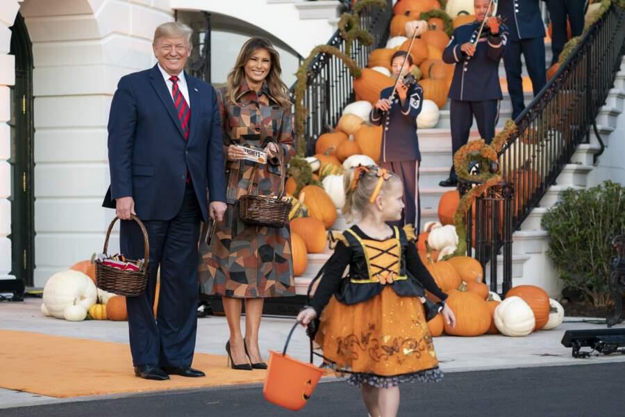 Donald et Melania Trump à Washington le 28 octobre 2019