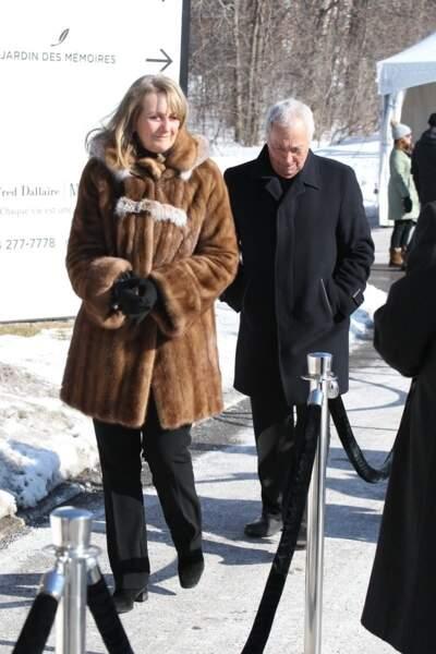 Arrivées aux obsèques de Thérèse Tanguay-Dion, la mère de Céline Dion, au salon funéraire Alfred Dallaire de Laval à Montreal. Le 20 février 2020