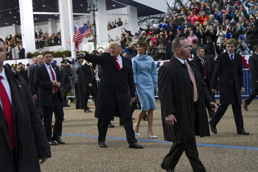 Melania et Donald Trump le 20 janvier 2017, lors de l'investiture à Washington
