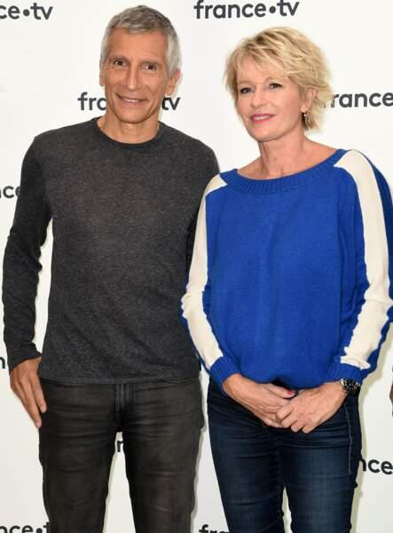 Novembre 2018 : Sophie Davant aux côtés de son  ami et collègue Nagui.