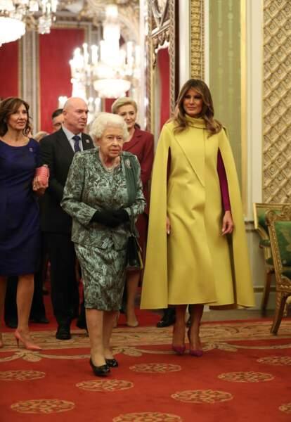 Melania Trump et la reine Elizabeth II à Londres, le 3 décembre 2019