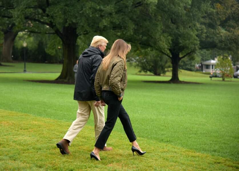 Melania et Donald Trump, le 29 aout 2017 à Washington