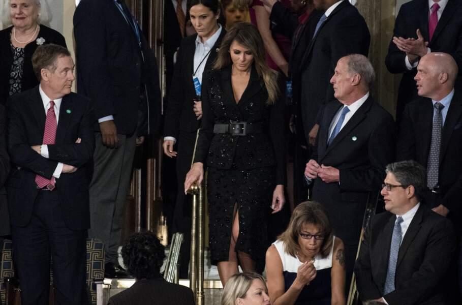 Melania Trump le 28 février 2017 au Congrès à Washington