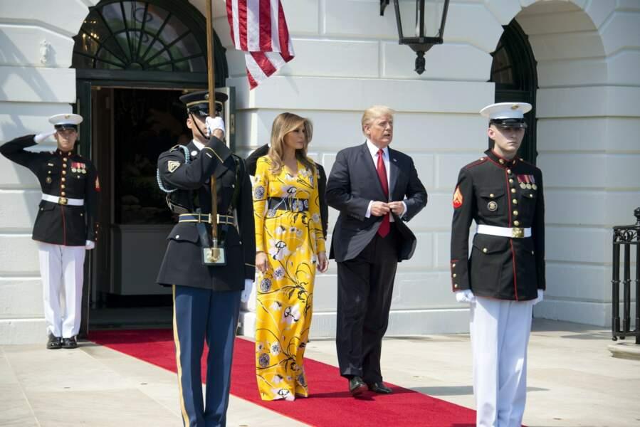 Melania et Donald Trump reçoive le premier ministre indien à la Maison-Blanche, le 26 juin 2017
