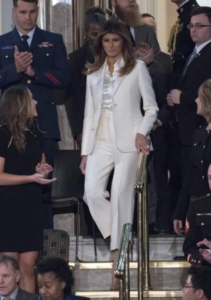Melania Trump à Washington, le 30 janvier 2018