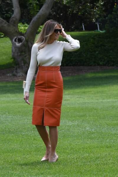 Melania Trump à Washington, le 19 mai 2017
