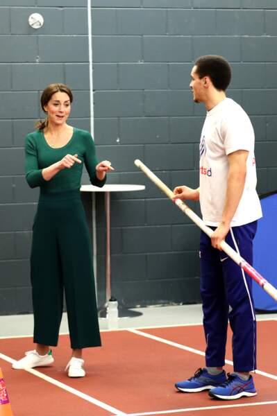 Kate Middleton s'initie au taekwondo au stade olympique de Londres