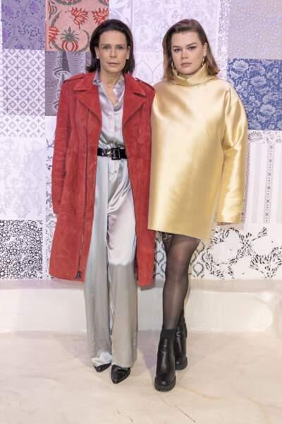 """La princesse Stéphanie de Monaco et sa fille Camille Gottlieb lors du défilé de mode prêt-à-porter """"Alter"""" automne-hiver 2020/2021 lors de la semaine de la mode à Paris, France, le 25 février 2020."""