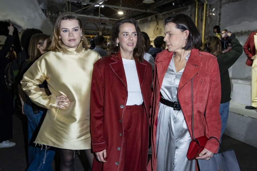 La princesse Stéphanie de Monaco et ses filles, Camille Gottlieb et la styliste Pauline Ducruet , réunies pour fêter le succès de Pauline.