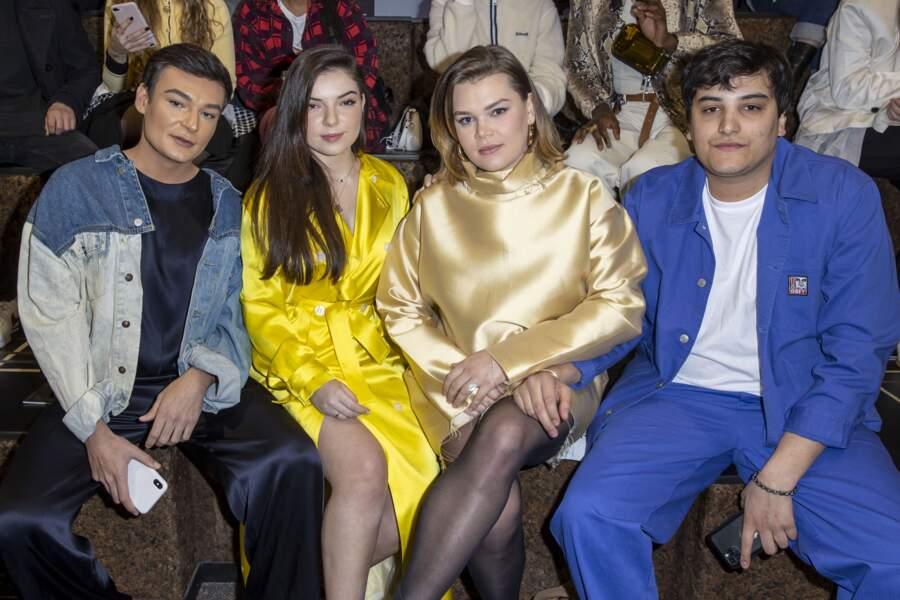 """Anthonin, Clara Marz,Anthonin, Camille Gottlieb et Médy Anthony lors du défilé de mode prêt-à-porter """"Alter"""" automne-hiver 2020/2021 lors de la semaine de la mode à Paris, France, le 25 février 2020."""