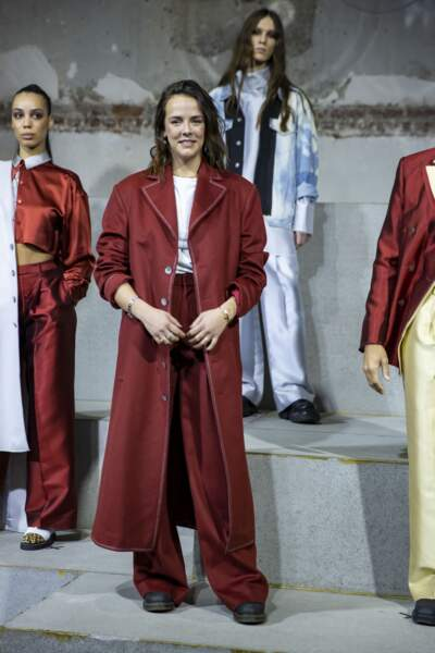 """Pauline Ducruet présente sa seconde collection lors du défilé de mode prêt-à-porter """"Alter"""" automne-hiver 2020/2021 en pleine semaine de la mode à Paris, France, le 25 février 2020."""