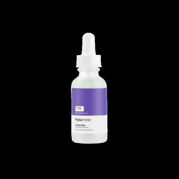 SubQ Skin d'Hylamide : un sérum formulé avec des peptides et plusieurs complexes d'acide hyaluronique qui cible l'aspect des rides, des ridules, l'élasticité de la peau, les irrégularités de texture et l'hydratation.