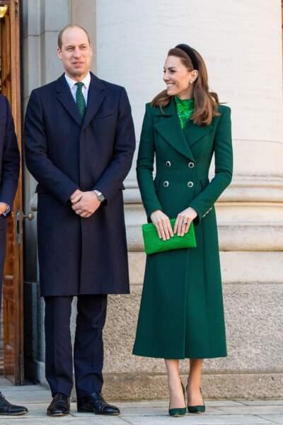 Le Duc et la Duchesse de Cambridge sont arrivés en Irlande le 3 mars 2020.