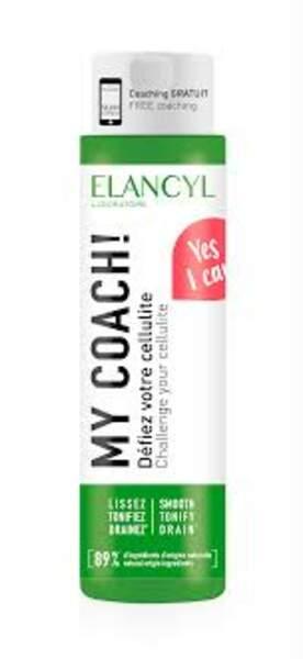 MY COACH! d'Elancyl, un soin anti-cellulite rebelle imaginé pour multiplier les effets anti-cellulite des petits efforts physiques du quotidien. 17,90€
